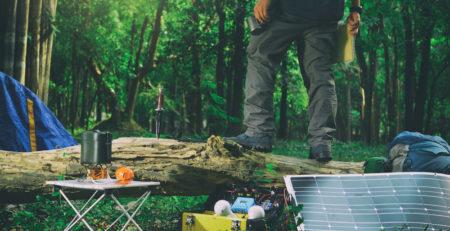 pannello solare campeggio portatile